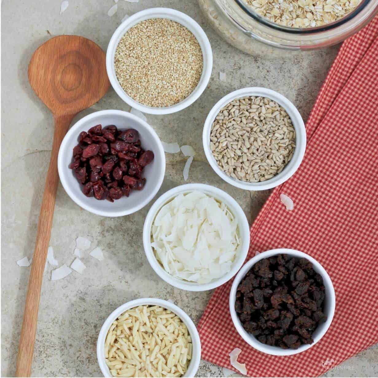 Gluten Free Granola Ingredients