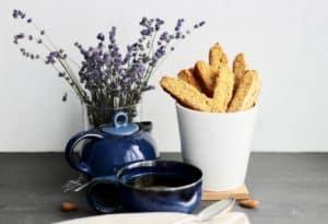Gluten free Lavender Biscotti