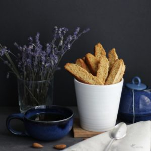 Lavender Biscotti with Tea CathysGlutenFree.com