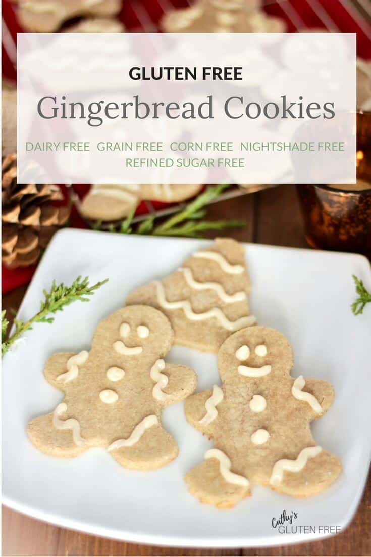 Gluten Free Gingerbread Cookies are also free from dairy, grains, corn, soy, nightshades | CathysGlutenFree.com