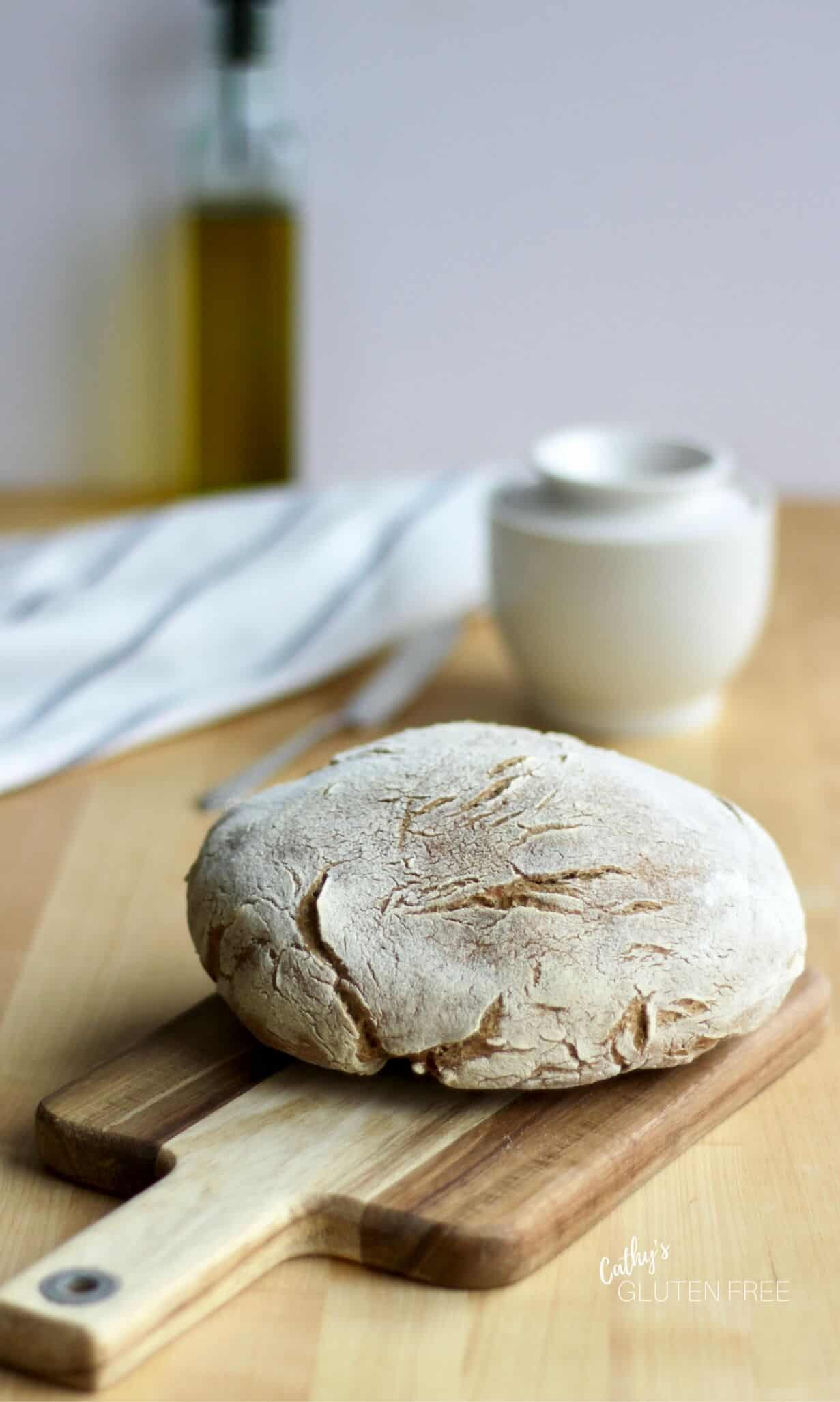 Gluten Free Crusty Bread Recipe | CathysGlutenFree.com
