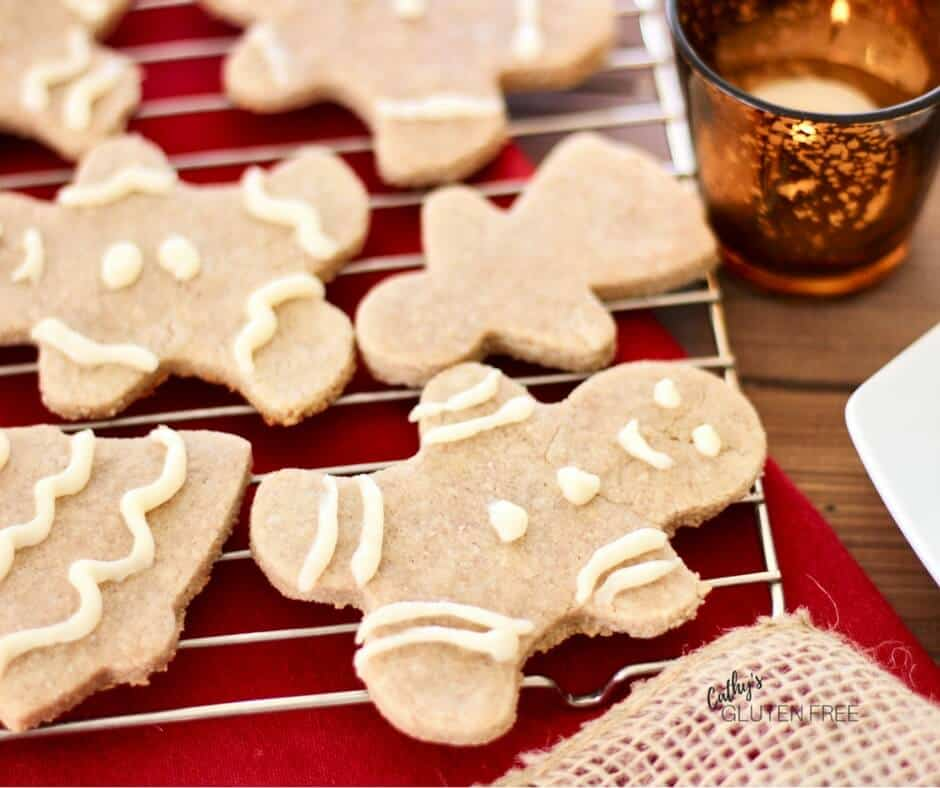 Gluten and Dairy Free Gingerbread Cookies | CathysGlutenFree.com