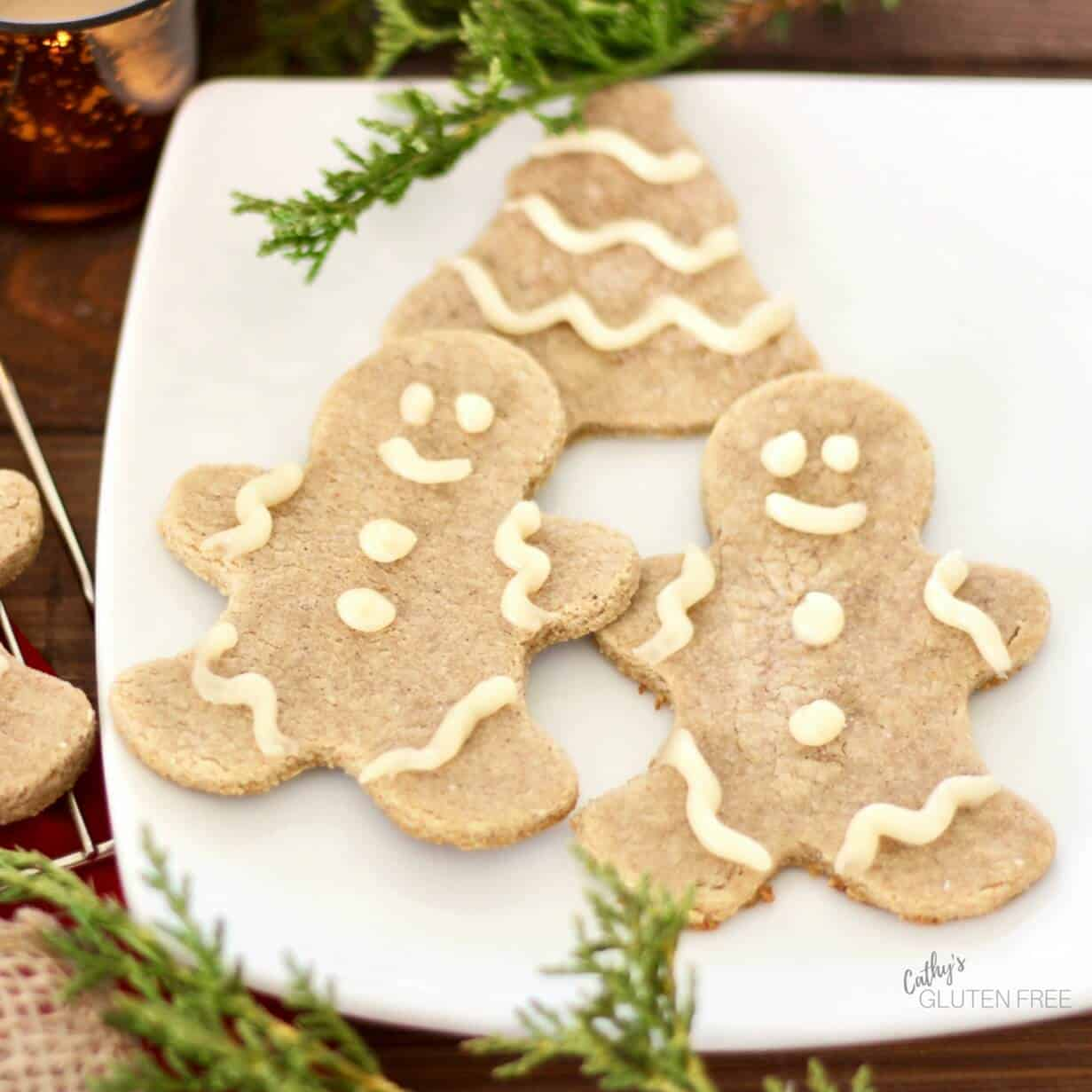 Grain Free Gingerbread Cookies | CathysGlutenFree.com