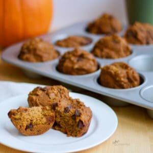 Pumpkin Spice Muffins in pan CathysGlutenFree.com