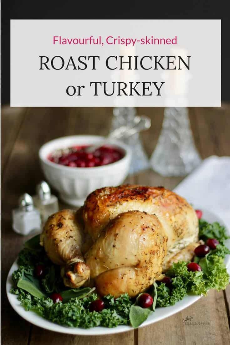 Flavourful, Crispy-Skinned, Moist Roast Turkey | #glutenfree #juicy #whole #oven| CathysGlutenFree.com