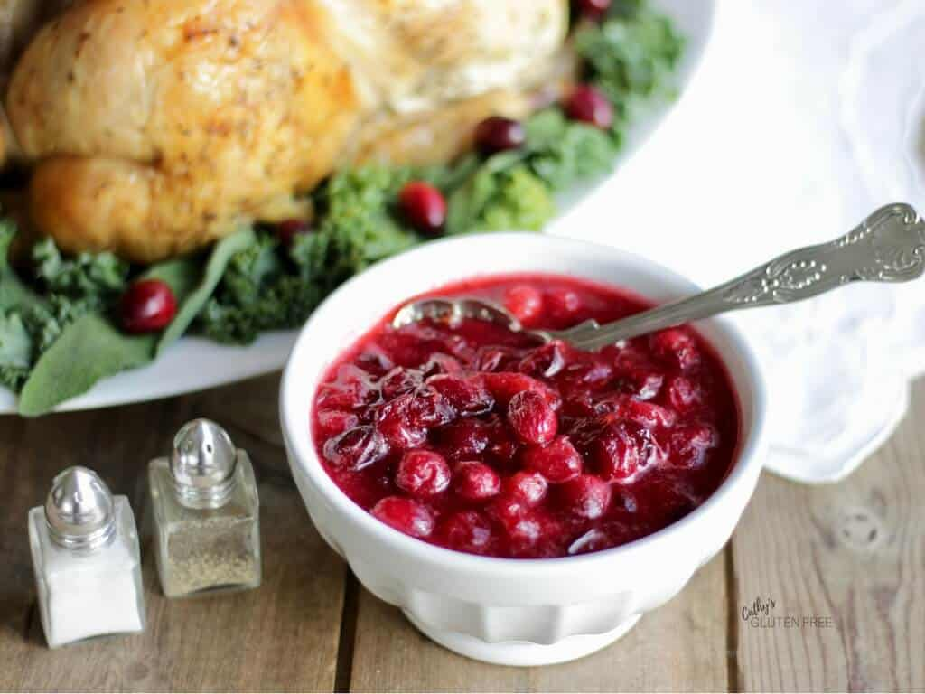 Cranberry Sauce with Roast Chicken CathysGlutenFree.com