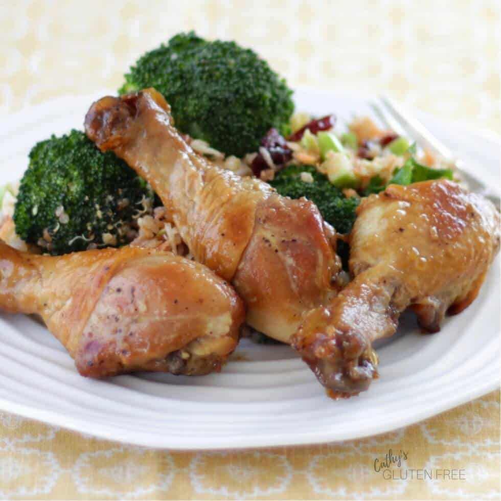 Honey Garlic Chicken Drumsticks that we enjoyed on the Elimination Diet Meal Plan