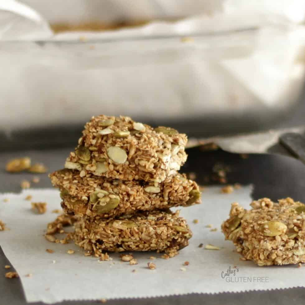Maple Cinnamon Seed Bars are an easy snack to make on the Elimination Diet Meal Plan.