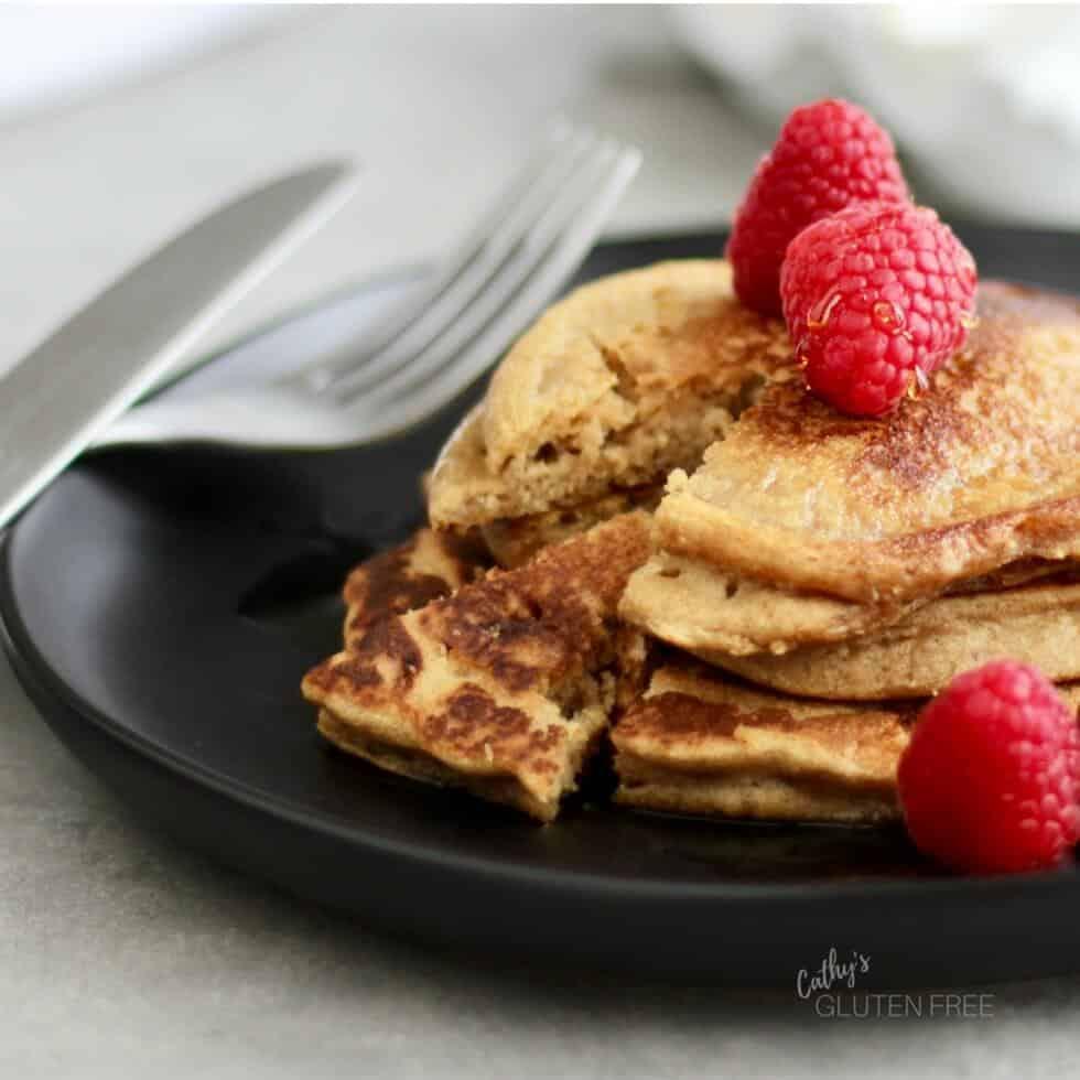 Gluten Free, Dairy Free Almond Teff Pancakes