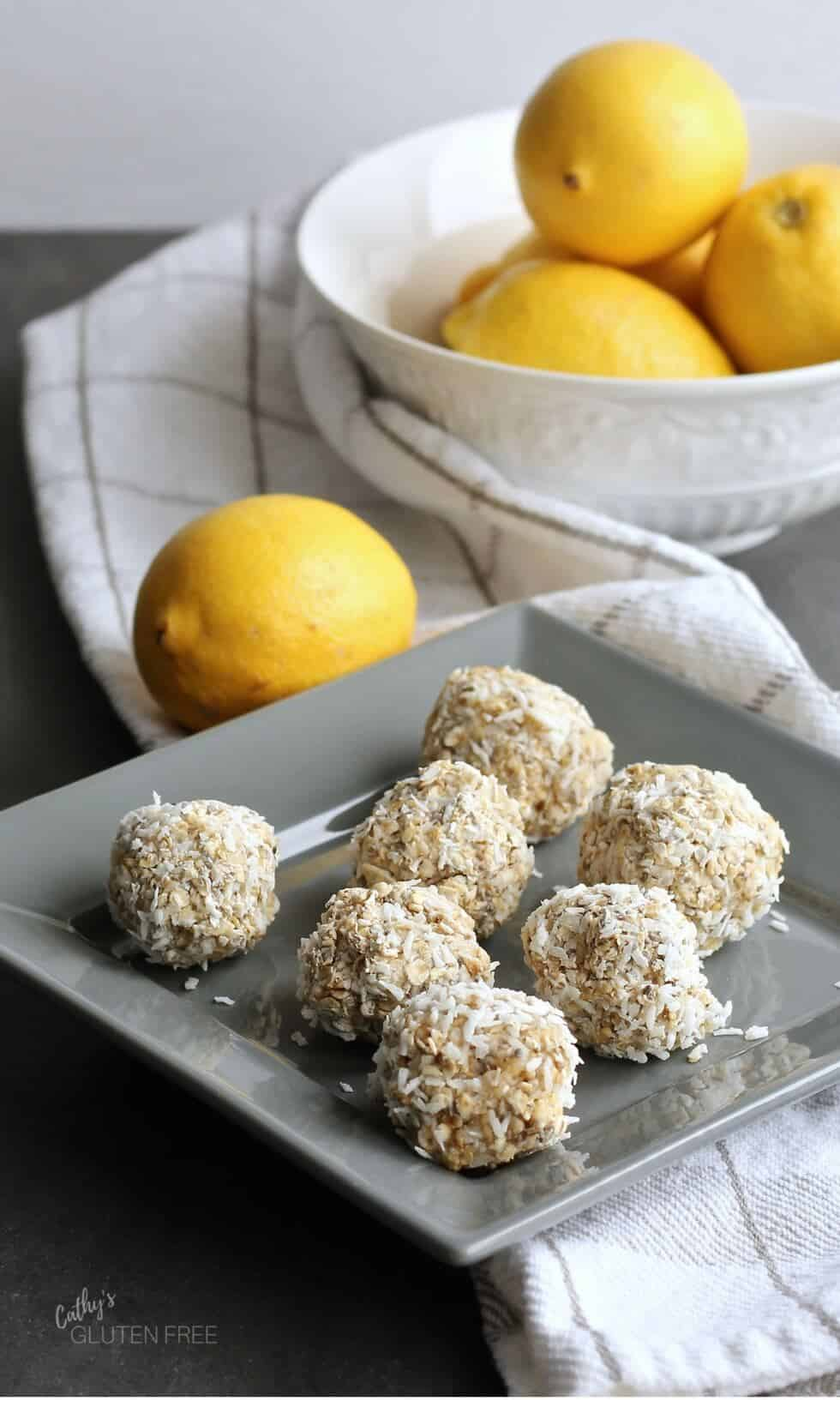 Lemon Coconut Breakfast Balls - GF DF