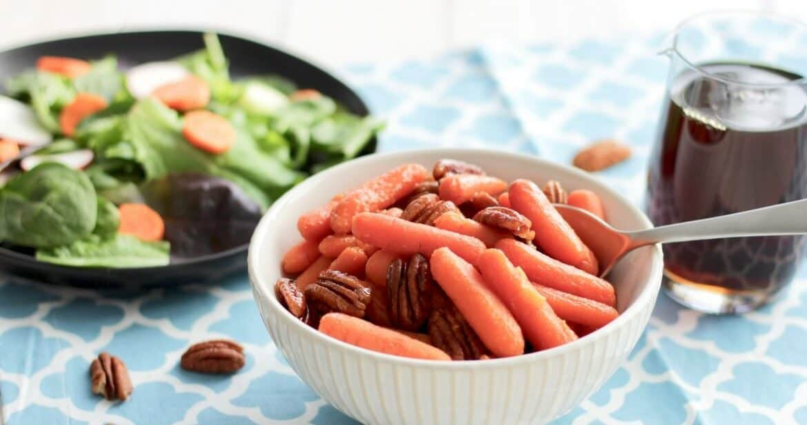 Maple Glazed Carrots with Pecans