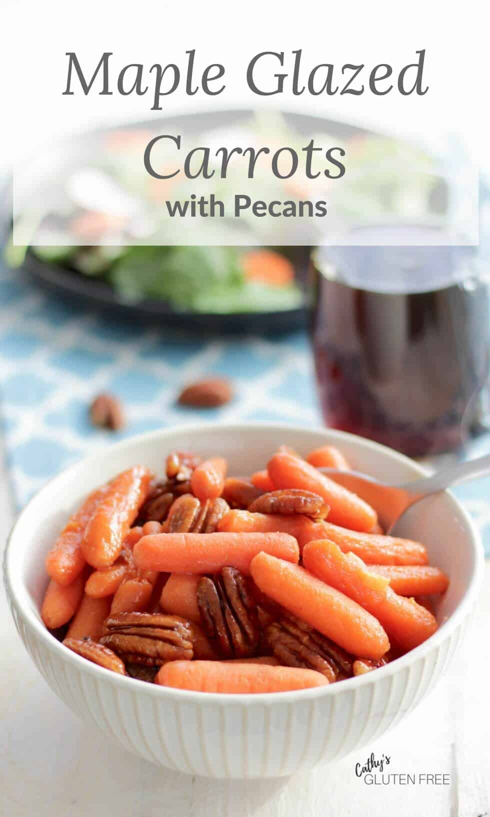 Maple Glazed Carrots with Pecans #side dish #glazed #pecans #maple