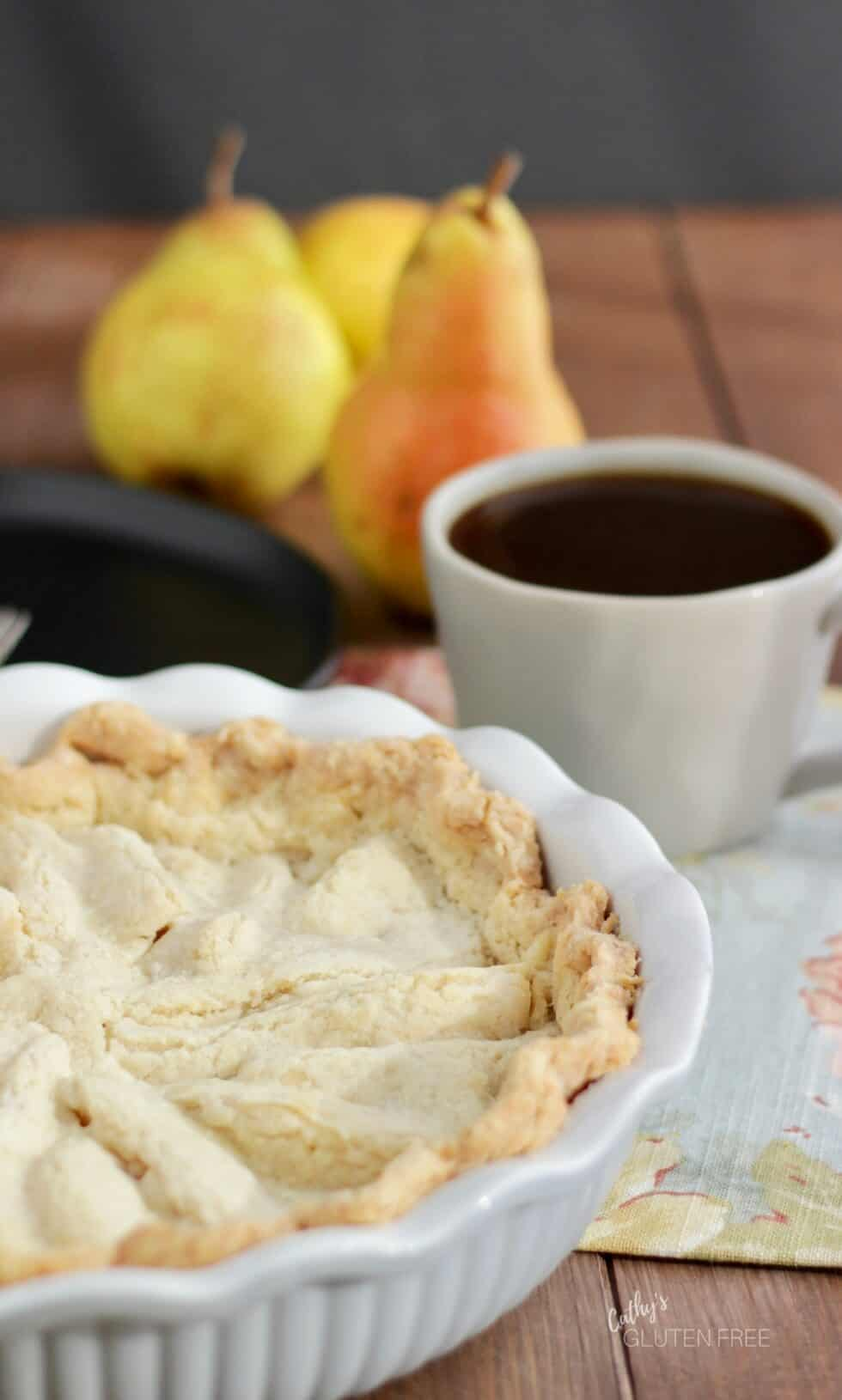 Pear Pie, a lovely dessert with coffee!