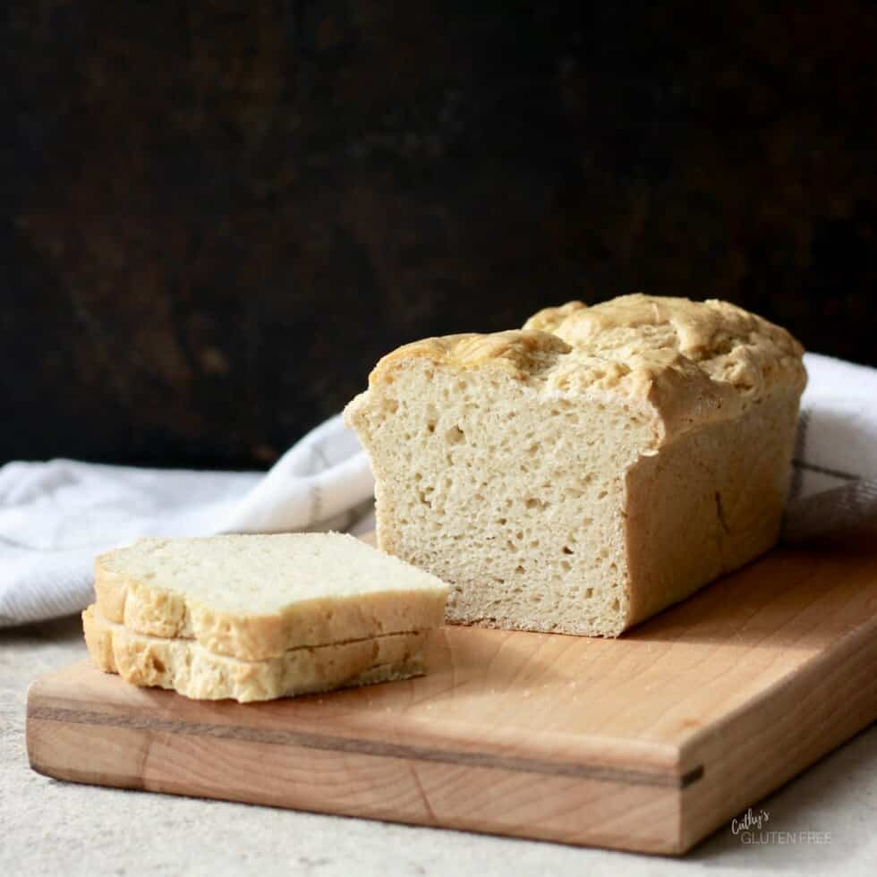 Gluten Free Yeast Bread, sliced