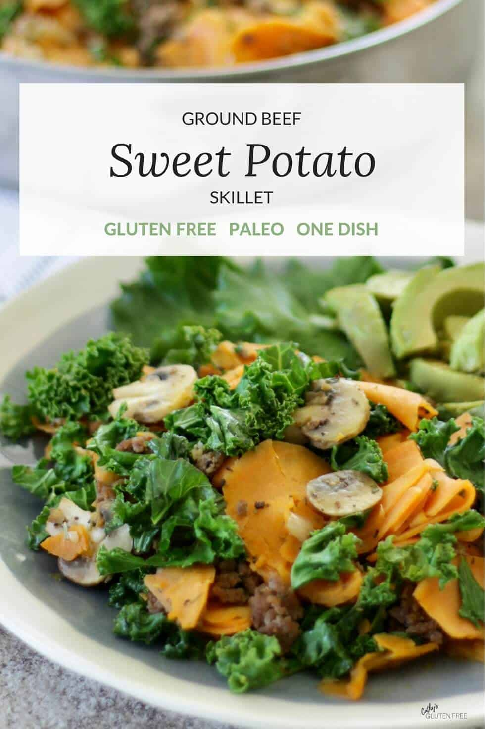 Ground Beef Skillet with Sweet Potato and Kale | one pot, gluten free, paleo