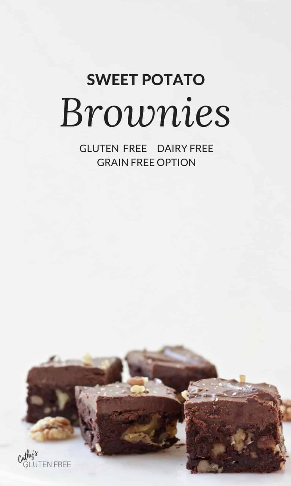 Sweet Potato Gluten Free Brownies | Dairy Free, Grain Free Option
