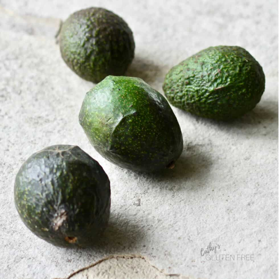 Four avocados