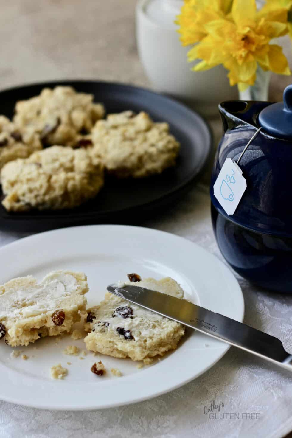 Gluten Free Scones are great split open with butter on them - or make the dairy free version.