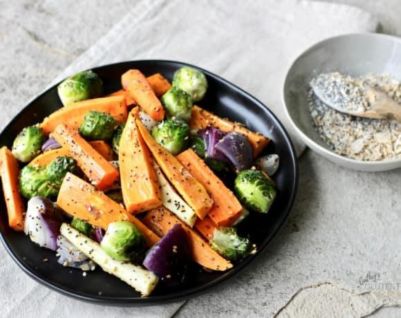 Everything Seasoning on Roasted Vegetables