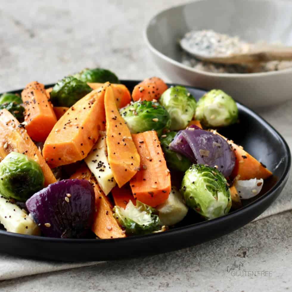 Gluten Free Everything Seasoning is great on roasted vegetables!