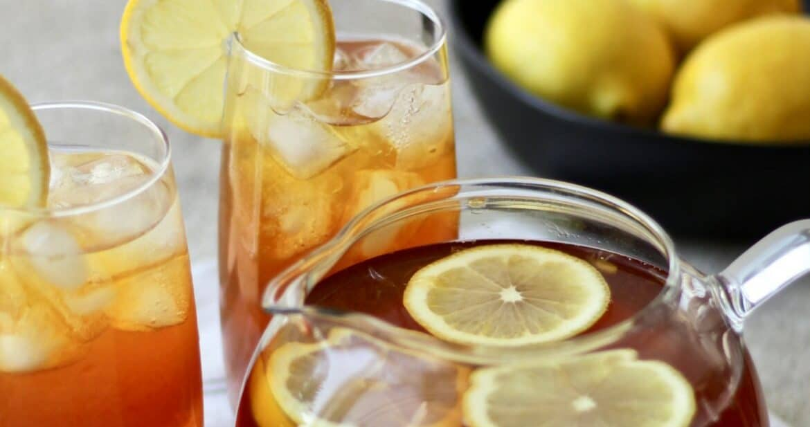 Iced Lemon Tea with Raw Honey Recipe