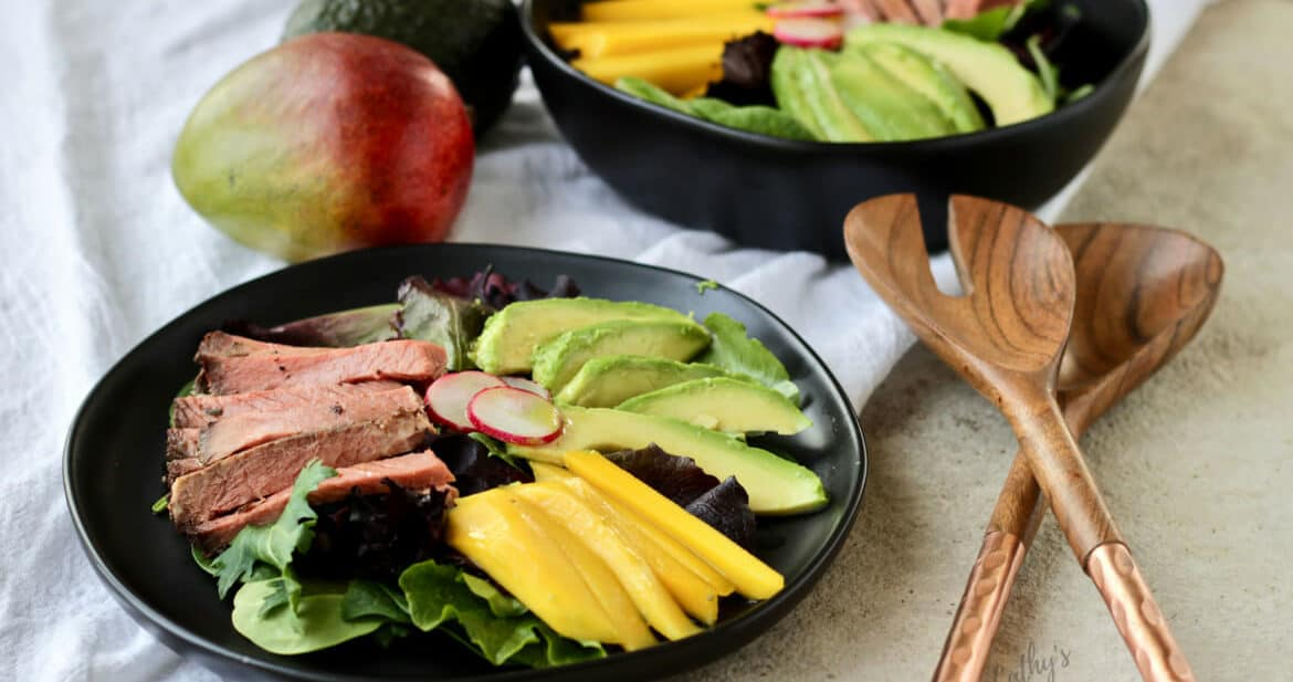 Mango Beef Salad with Avocado