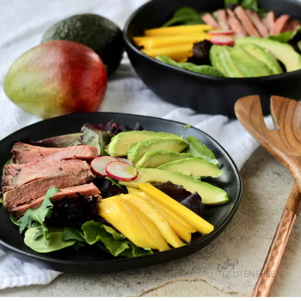 Mango Beef Salad with Avocado - a delicious lunch or light dinner!
