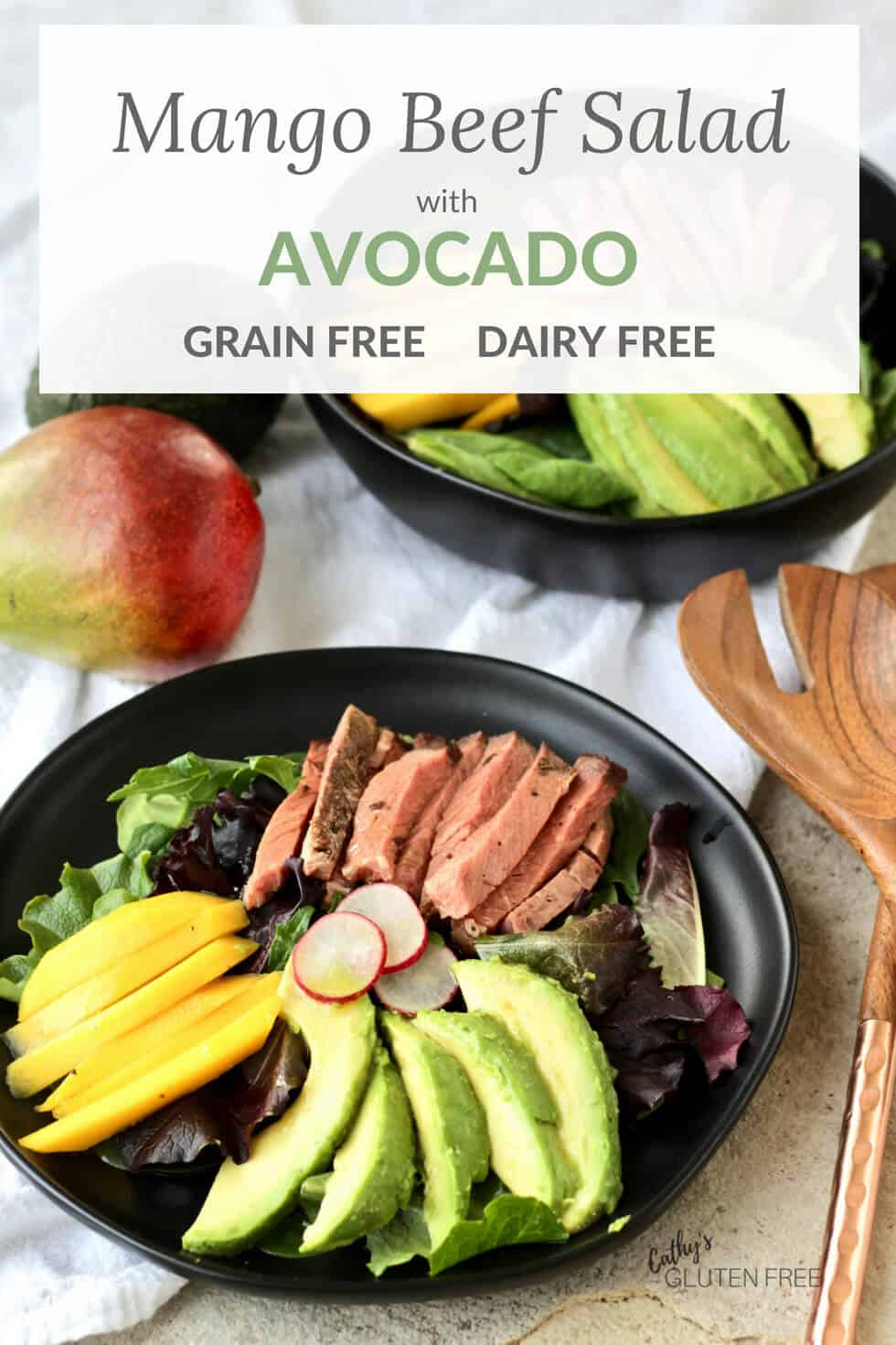 Mango Beef Salad with Avocado | Grain Free, Dairy Free