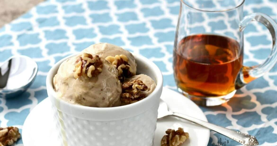 Dairy Free Maple Walnut Ice Cream