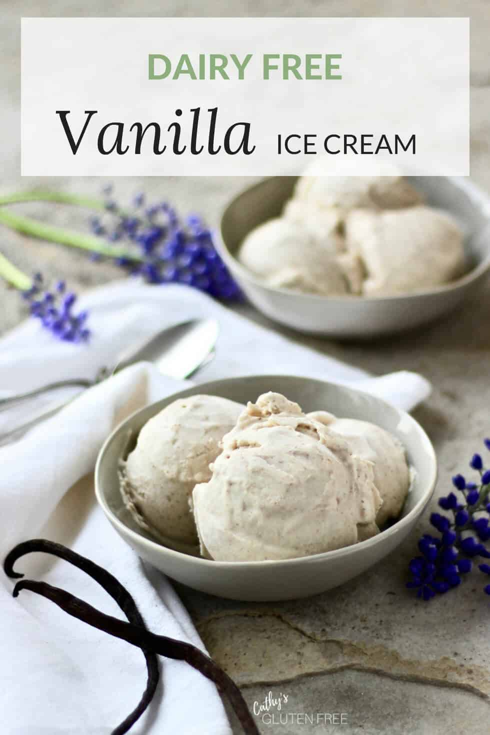 Homemade Dairy Free Vanilla Ice Cream #icecream #vanilla #dairyfree #glutenfree #paleo