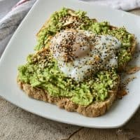 Gluten Free Avocado Toast with Poached Egg