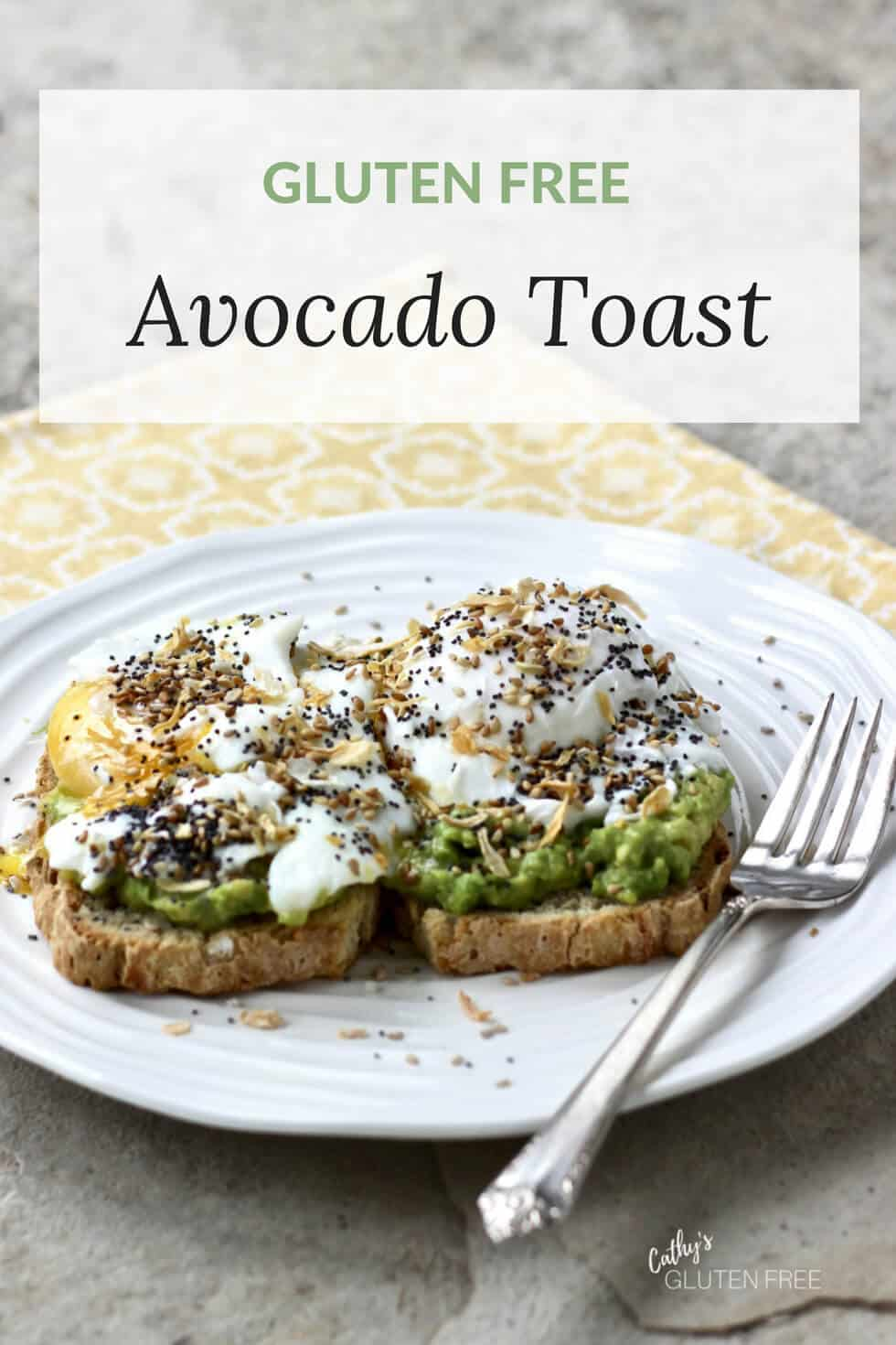 Avocado Toast with Poached Egg #glutenfree #lunch #brunch #egg
