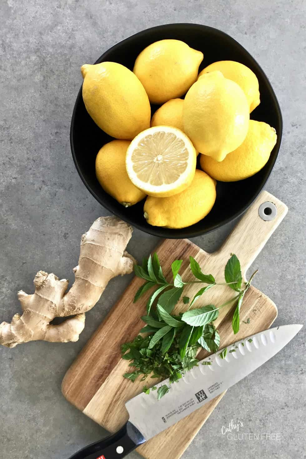 Lemons, Ginger, and Mint