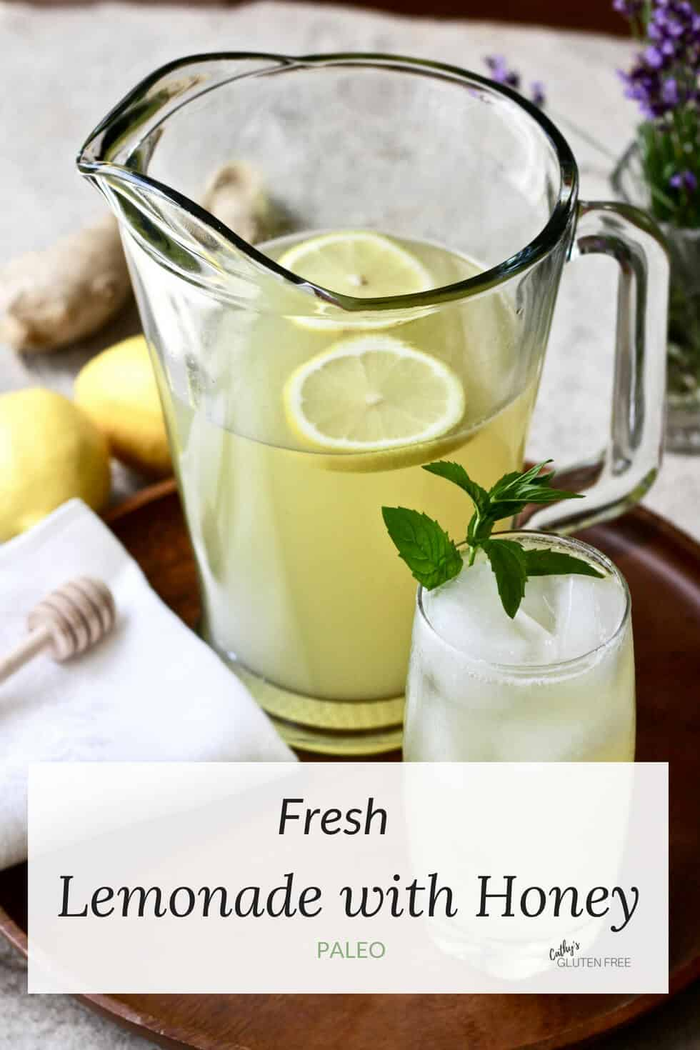 Fresh Lemonade with Raw Honey, Ginger, and Mint #lemonade #healthy #fresh #recipe #homemade