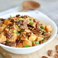 Sweet Potato Salad with Bacon and Pecans