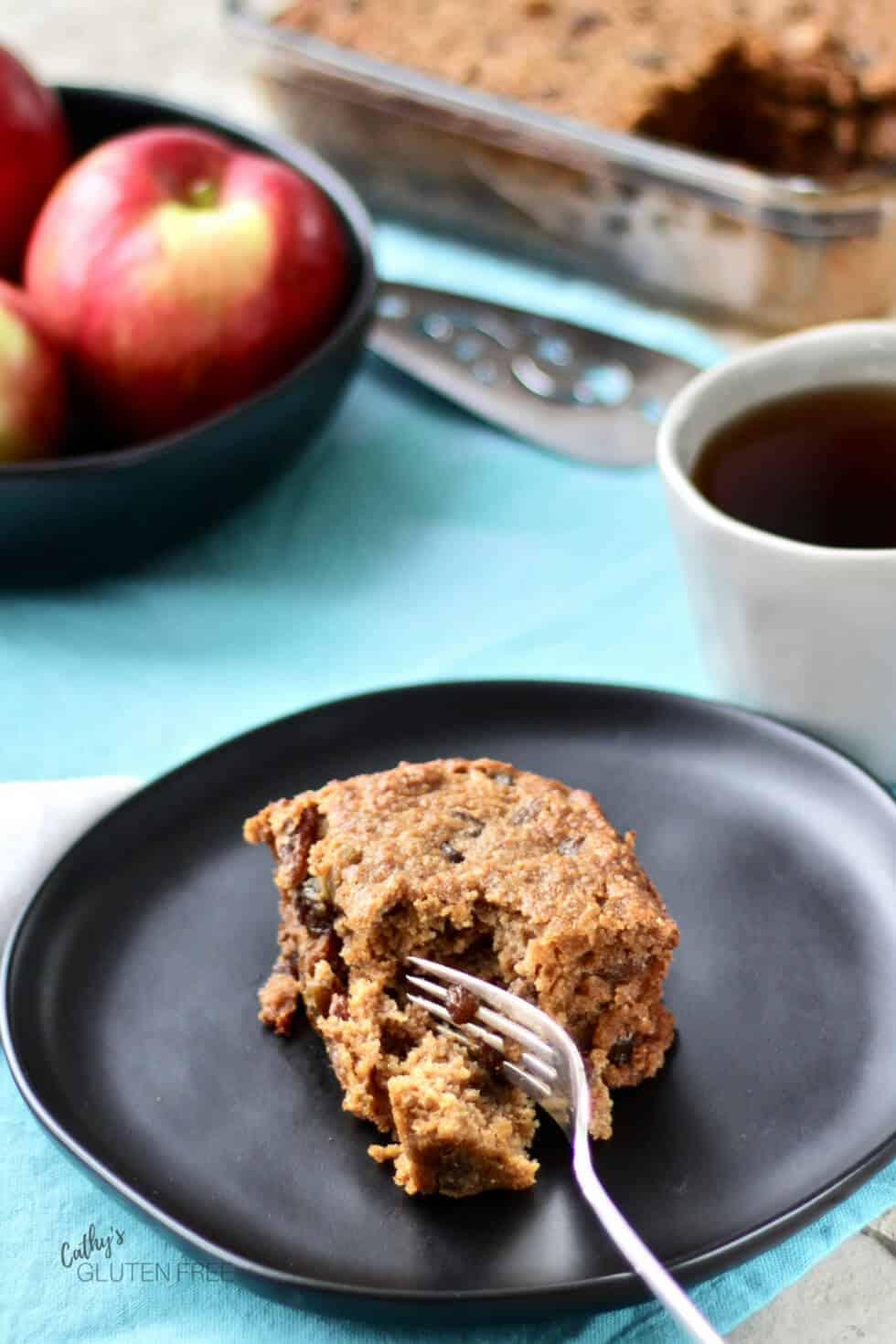 Applesauce Spice Cake - Gluten Free Recipe #glutenfree #coconutoil #grainfree #dairyfree #dessert #recipe