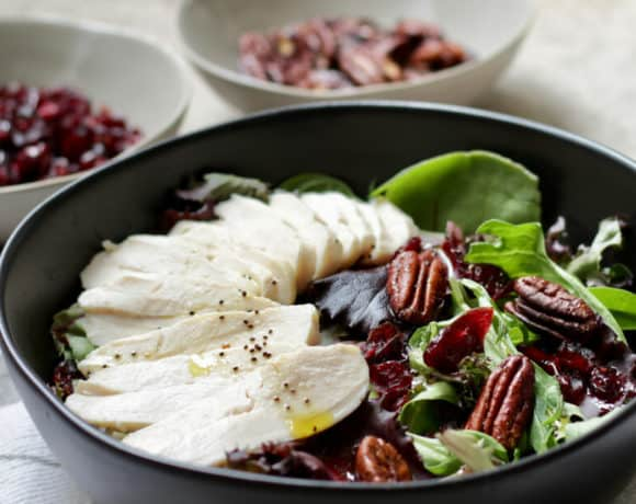 Festive Cranberry Salad with Chicken and Pecans