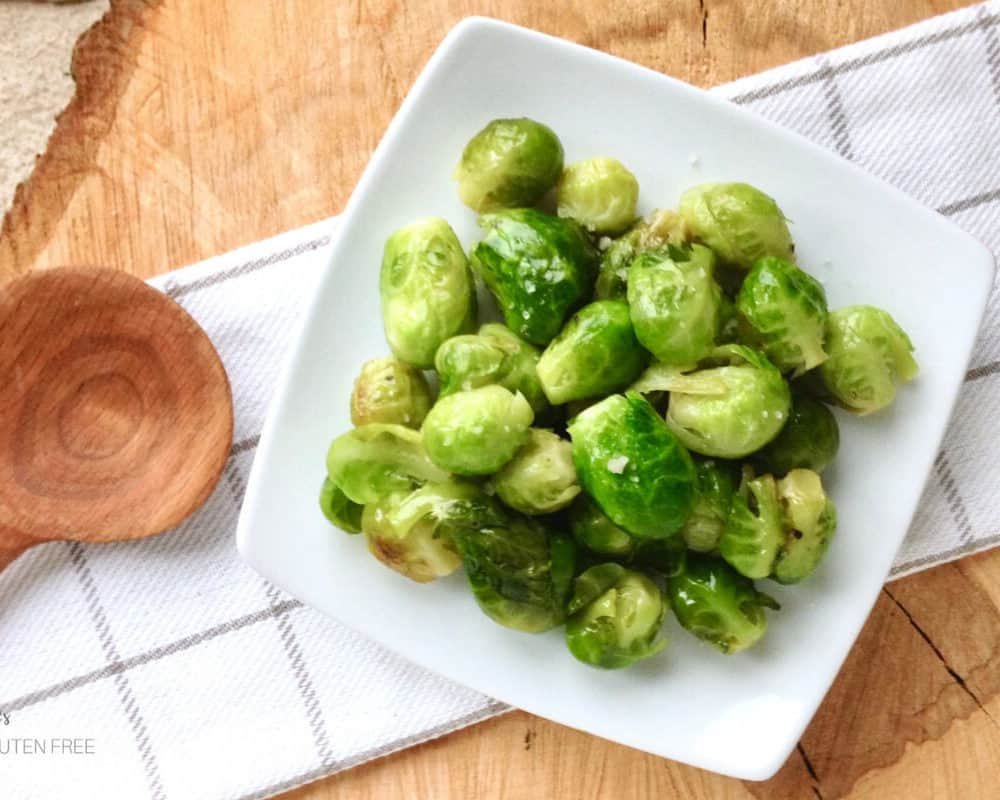Braised and Glazed Brussels Sprouts