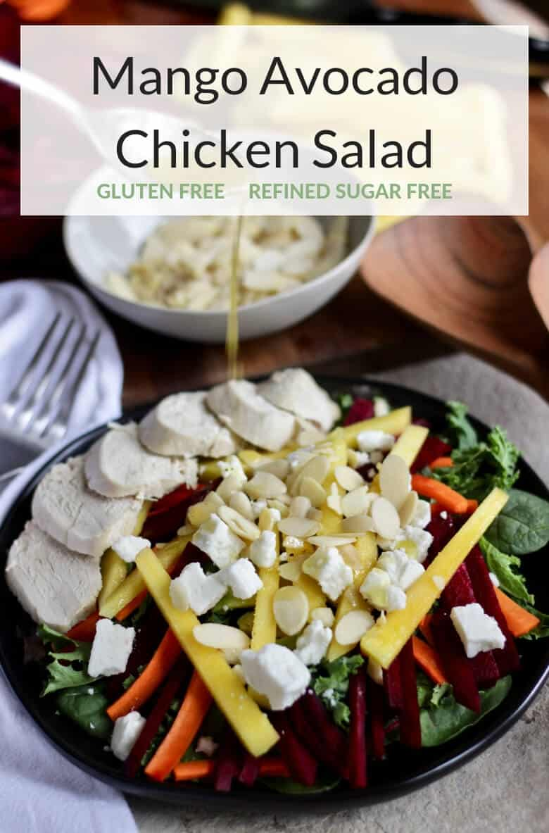Mango Avocado Salad with Chicken and Dijon Mustard