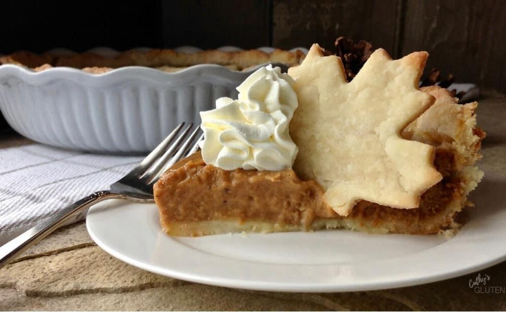 Slice of Gluten Free Pumpkin Pie