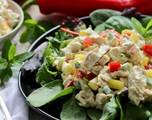 Easy Chicken Salad with Mango [Gluten Free]