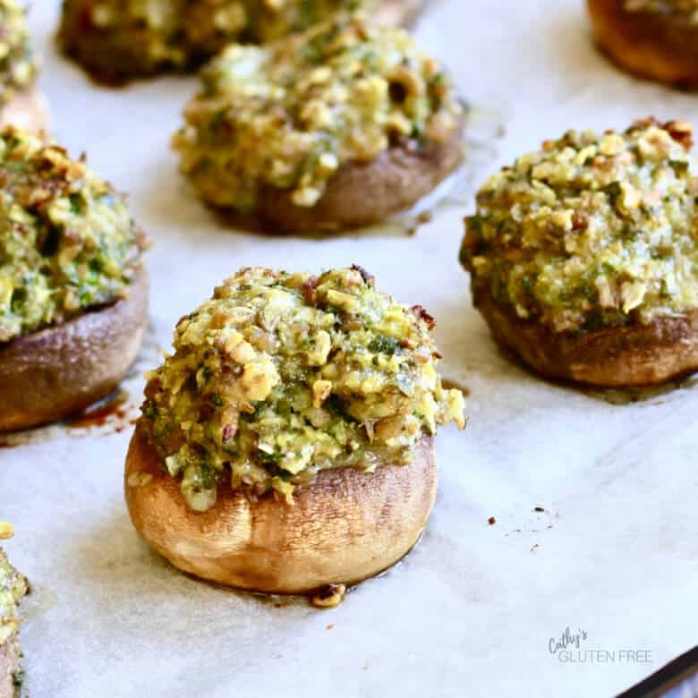 Stuffed mushrooms fresh from the oven