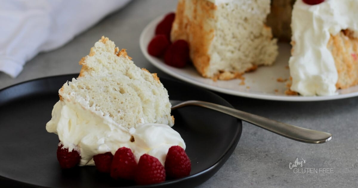 Gluten Free Angel Food Cake with 50% Less Sugar - Cathys Gluten Free