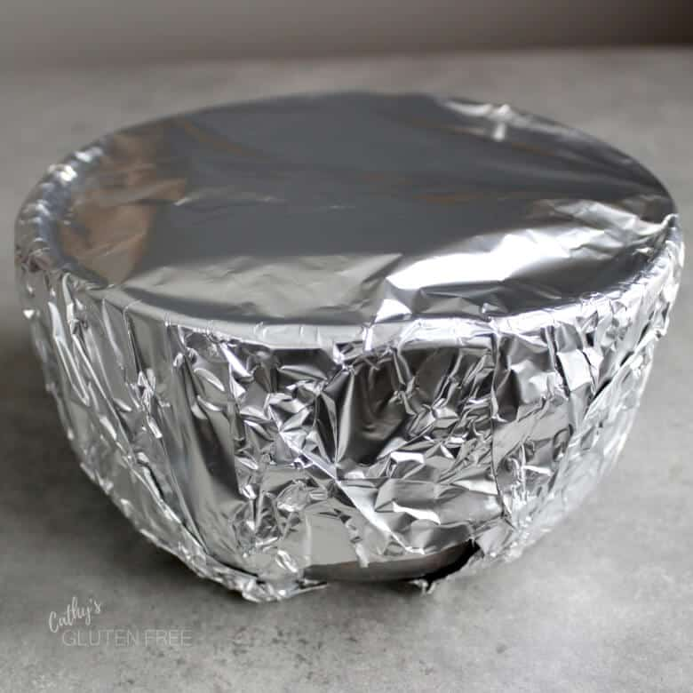 foil-wrapped bowl
