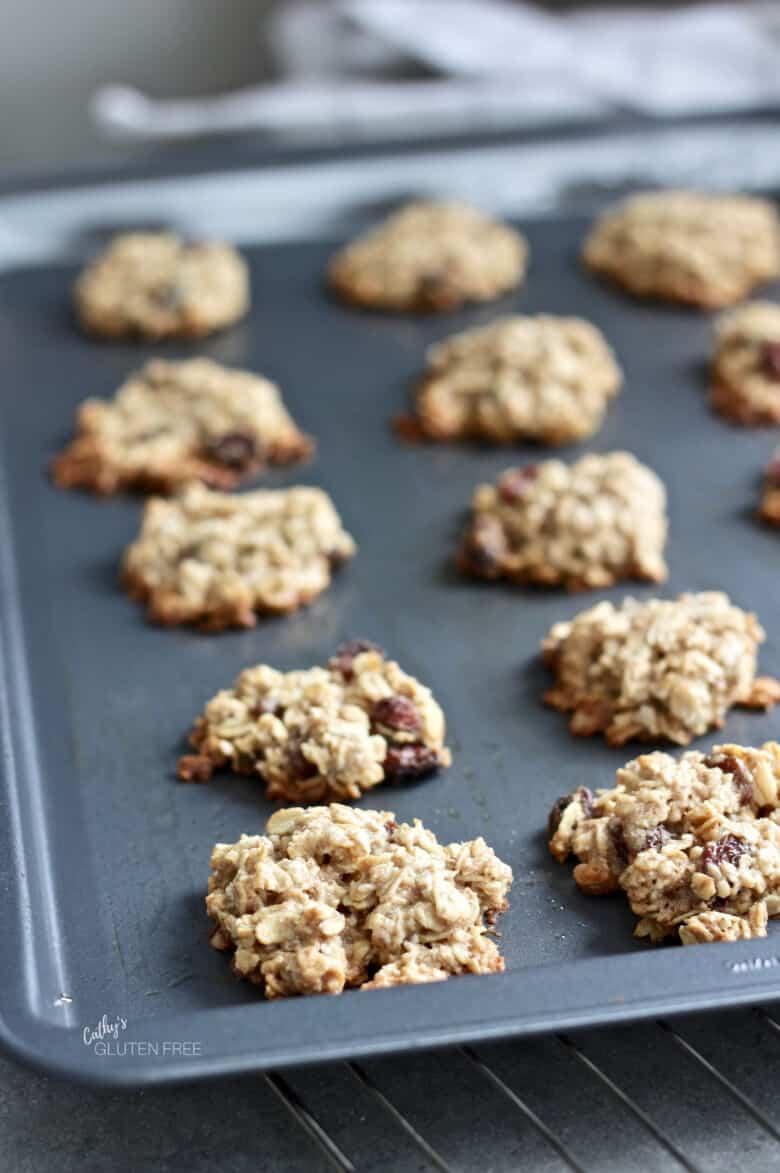 freshly baked gluten free oatmeal cookies