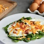 warm spinach salad with egg