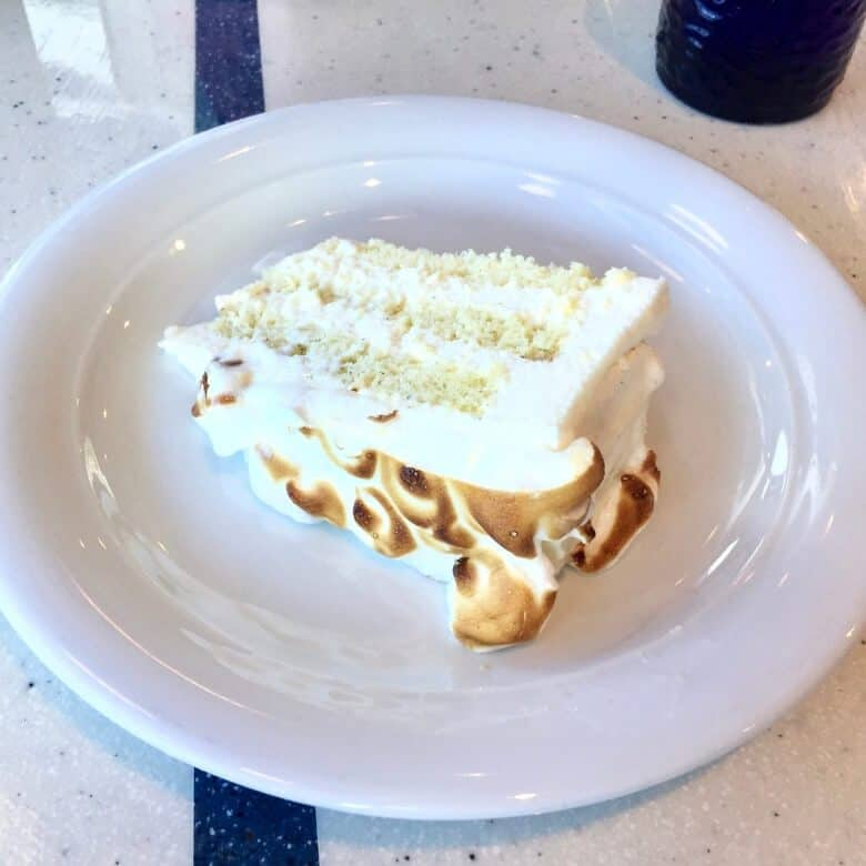 white cake on plate