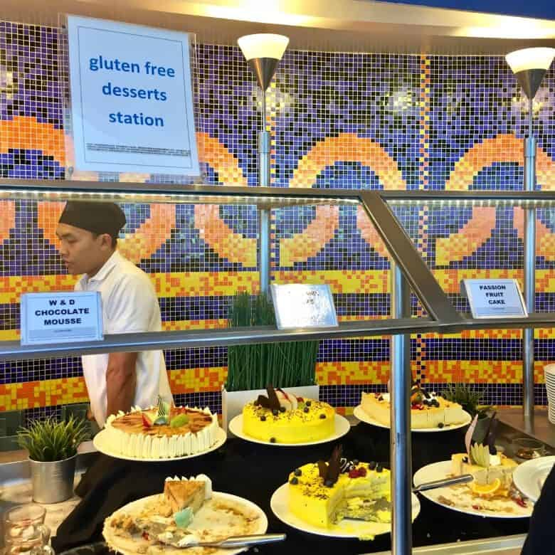 The buffet had a whole, constantly-changing section of gluten free desserts.