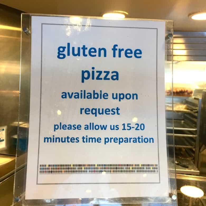 Gluten Free Pizza Sign