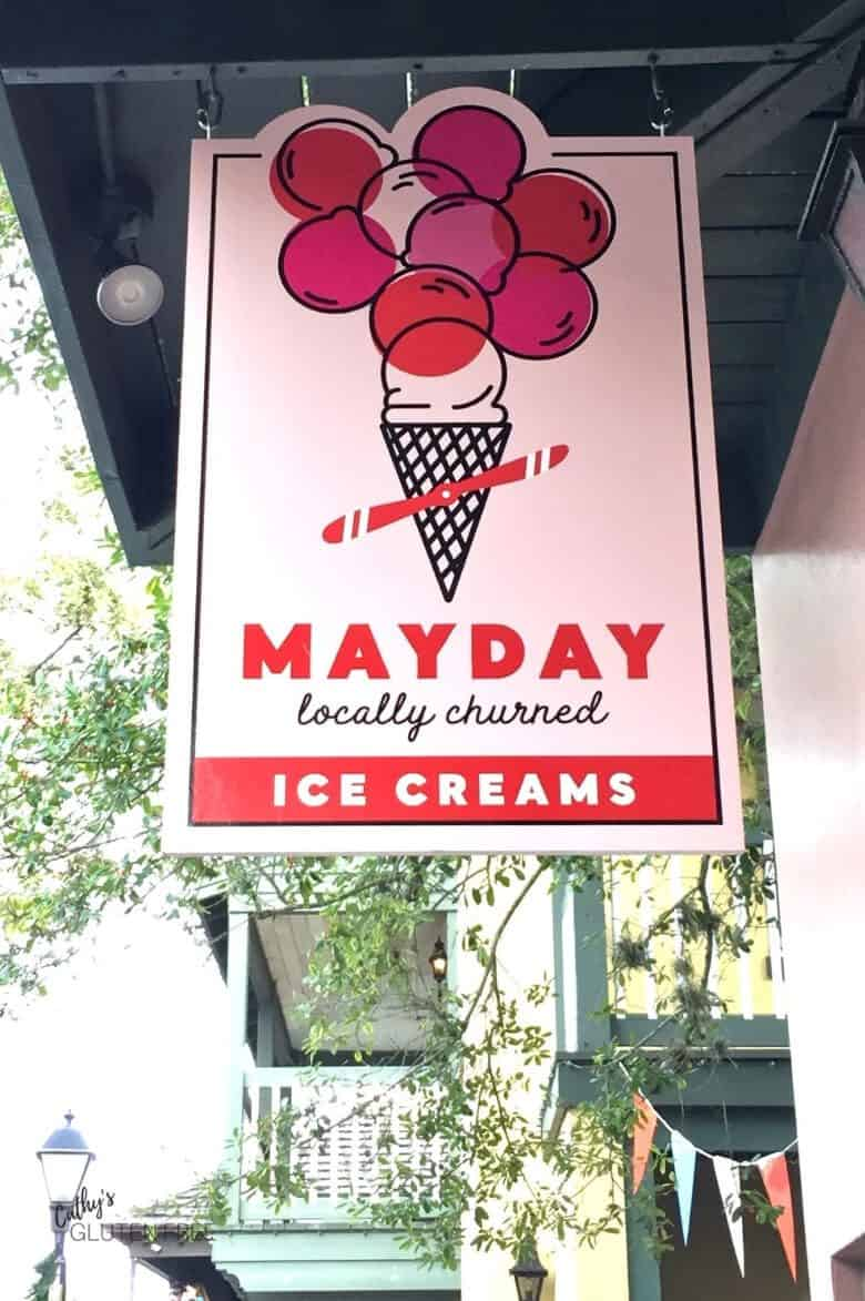 Mayday Ice Cream Sign